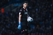 Leeds United goalkeeper Kiko Casilla (13) during the EFL Sky Bet Championship match between Leeds United and Queens Park Rangers at Elland Road, Leeds, England on 2 November 2019.