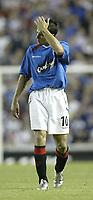 Fotball<br /> Kvalifisering til UEFA Champions League<br /> 25.08.2004<br /> Foto: SBI/Digitalsport<br /> NORWAY ONLY<br /> <br /> Glasgow Rangers v CSKA Moskva<br /> <br /> Rangers Nacho Novo is dejected atb the end