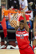 Washington Wizards Thomas Bryant (13) during the NBA London Game match between Washington Wizards and New York Knicks at the O2 Arena, London, United Kingdom on 17 January 2019.