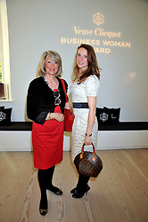 Left to right, LIZ HIGGINS and VICTORIA    at the presentation of the Veuve Clicquot Business Woman Award 2009 hosted by Graham Boyes MD Moet Hennessy UK and presented by Sir Trevor Macdonald at The Saatchi Gallery, Duke of York's Square, Kings Road, London SW1 on 28th April 2009.