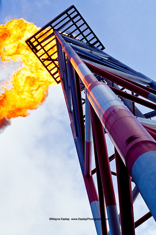 Flare stack on FPSO off Angola