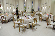 banquet room at a western style wedding event in Japan