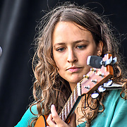 London, UK. 21th July, 2019. Izzie Yardley perfroms at the Lambeth Country Show 2019 a family festival with live music food & drinks, Arts and Culture and animal show at Brockwell Park, London.