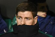 Steven Gerrard during the Ladbrokes Scottish Premiership match between Hibernian and Rangers at Easter Road, Edinburgh, Scotland on 19 December 2018.