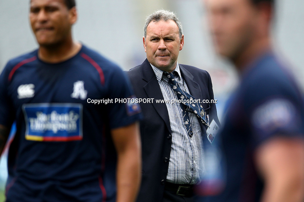 Auckland's Head Coach Wayne Pivac. ITM Cup rugby union match, Auckland v Waikato at Eden Park, Auckland, New Zealand. Saturday 8th September 2012. Photo: Anthony Au-Yeung / photosport.co.nz