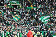 14th October 2017, Celtic Park, Glasgow, Scotland; Scottish Premiership football, Celtic versus Dundee; Celtic fans