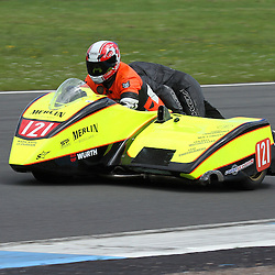 Ken Minns and Mark Henderson competing in the sidecar event at the the annual visit to Knockhill of the North East MCRC Championship round. STEPHEN LAWSON|STOCKPIX