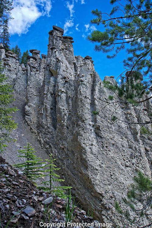 Hoodoos at Hooodoo Creek., British Columbia, canada, Isobel Springett
