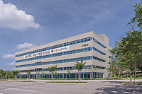 Exterior photo of signage at Baltimore Gateway office park in Maryland by Jeffrey Sauers of Commercial Photographics, Architectural Photo Artistry in Washington DC, Virginia to Florida and PA to New England