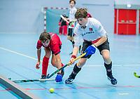ARNHEM -  halve finales NK competitie  zaalhockey  junioren. Amsterdam JB1- Nijmegen JB1 . Nijmegen plaats zich voor de finale. .   COPYRIGHT  KOEN SUYK