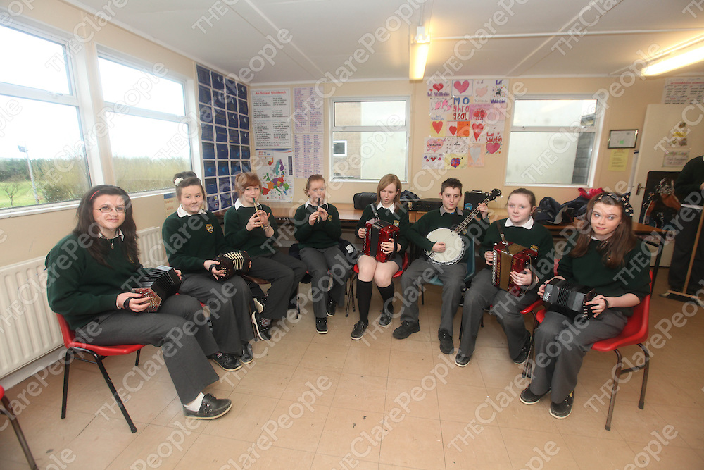 The Scoil Ceile Band at Kilmihils St Michaels Community School on Monday.<br /> Pic. Brian Arthur/ Press 22.