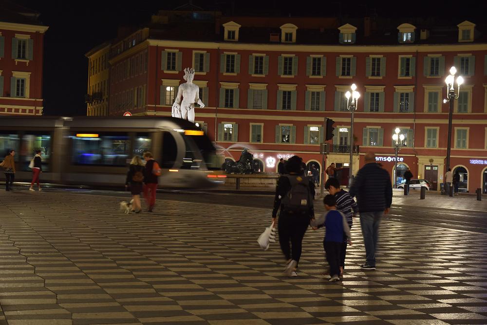 Place Massena at Night