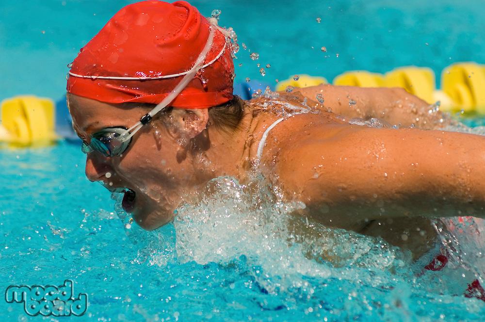 Determined Swimmer