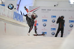 February 23, 2019 - Calgary, Alberta, Canada - Elisabeth Vathje (Canada) is running on the track during BMW IBSF SKELETON WORLD CUP Calgary Canada 23.02.2019 (Credit Image: © Russian Look via ZUMA Wire)