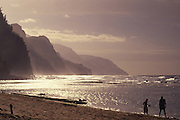 Ke'e Beach, Haena, Napali Coast, Kauai, Hawaii, USA<br />
