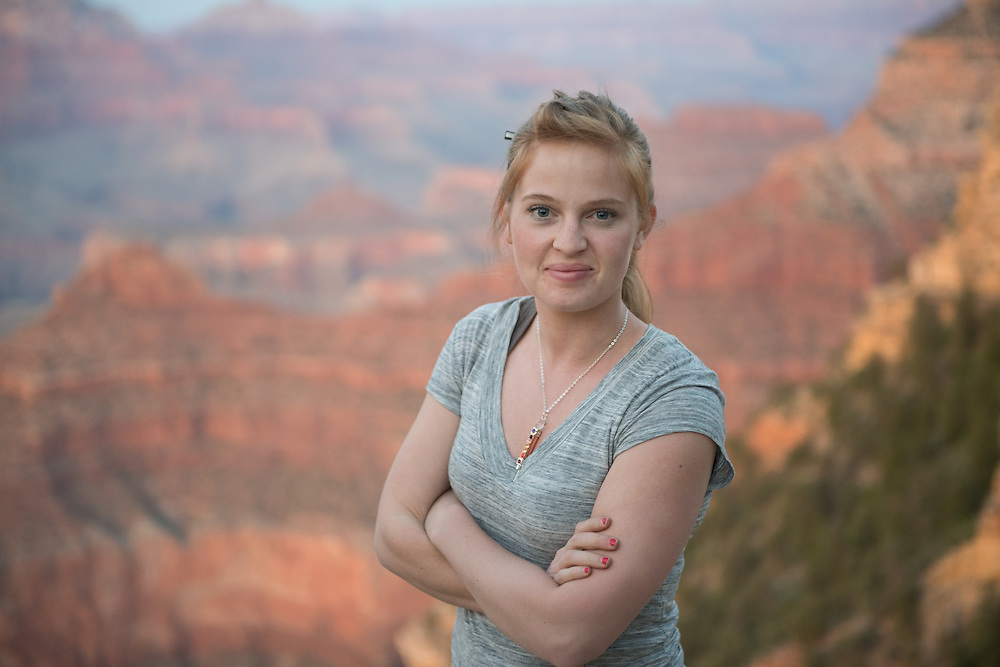 Grand Canyon Portrait of a Young Woman