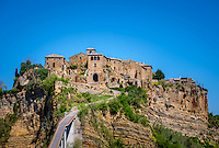 CIVITA DI BAGNOREGIO ITALY - CIRCA MAY 2015: View of Civita di Bagnoregio.
