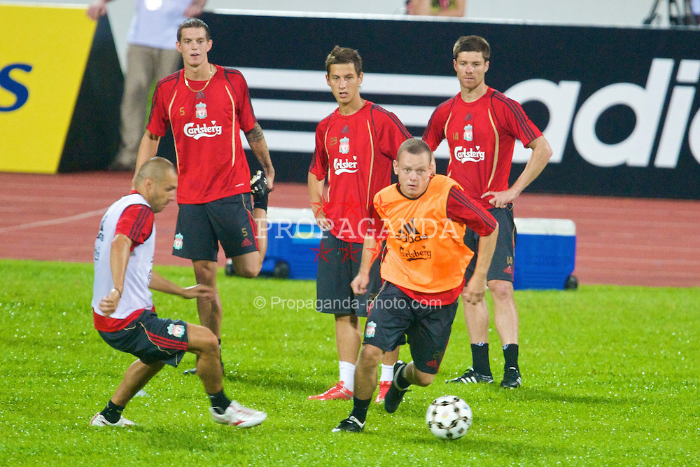 SINGAPORE, SINGAPORE - Friday, July 24, 2009: Liverpool's Jay Spearing during training at the Singapore National Stadium during the second leg of the club's preseason tour of Asia. (Pic by David Rawcliffe/Propaganda)
