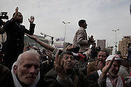 EGYPT, Cairo : Friday pray in Cairo, Egypt, Sunday, Feb. 5, 2012.