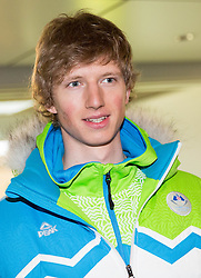 Klemen Kosi of Slovenia during reception at arrival from Sochi Winter Olympic Games 2014 on February 23, 2014 in Airport Zagreb, Croatia. Photo by Vid Ponikvar / Sportida