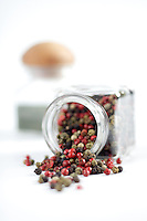 Mixed pepper seeds of various colours red black green