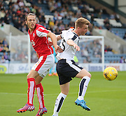 Rotherham United's Tom Thorpe and Dundee's Calvin Colquhoun - Dundee v Rotherham United - pre-season friendly at Dens Park <br /> <br />  - &copy; David Young - www.davidyoungphoto.co.uk - email: davidyoungphoto@gmail.com