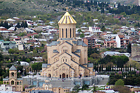 the orthodox Holy Trinity Cathedral in Tbilisi Georgia