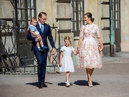 Stockholm, 14-07-2017 <br /> <br /> <br /> Crown Princess Victoria celebrates her 40th birthday at the Royal Casye of Stockholm.<br /> <br /> COPYRIGHT: ROYALPORTRAITS EUROPE/ BERNARD RUEBSAMEN
