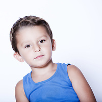 charming and expressive child portrait studio isolated background