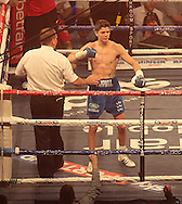 Picture by Richard Gould/Focus Images Ltd +44 7855 403186<br /> 13/07/2013<br /> Luke Campbell (blue shorts) celebrates the win pictured during their Lightweight contest at Craven Park, Hull.