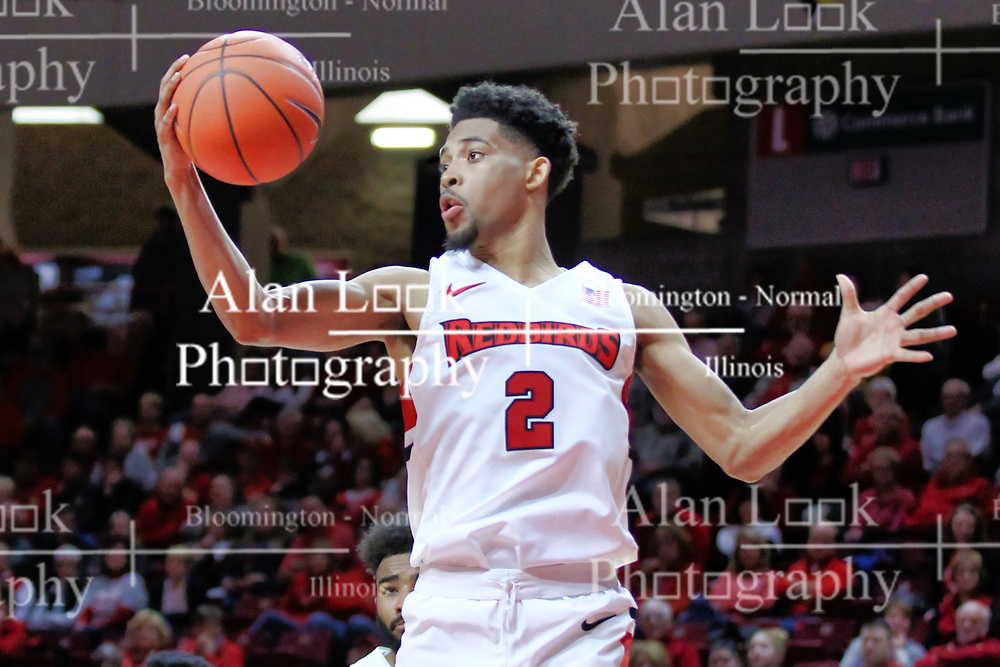 NORMAL, IL - January 05: Zach Copeland during a college basketball game between the ISU Redbirds and the University of Evansville Purple Aces on January 05 2019 at Redbird Arena in Normal, IL. (Photo by Alan Look)