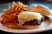 The Maytag Burger, a hamburger covered with Iowa's own Maytag blue cheese, sauteed onions and a slice of Monterey Jack cheese seen Saturday, Sept. 8, 2007 at the Drake Diner in Des Moines, Iowa. Photo by Scott Morgan