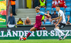11.07.2019, Cashpoint Arena, Altach, AUT, Testspiel, Cashpoint SCR Altach vs West Ham United, im Bild Chicharito (West Ham United) und Emir Karic (SCR Altach) // during a test match for the upcoming Season between Cashpoint SCR Altach and West Ham United in Cashpoint Arena in Altach, Austria on 2019/07/11. EXPA Pictures © 2019, PhotoCredit: EXPA/ Peter Rinderer