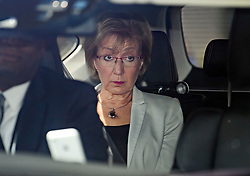 © Licensed to London News Pictures. 26/03/2019. London, UK. Leader of the House of Commons, ANDREA LEADSOM  is seen driving at the House of Parliament in Westminster, London. MPs have passed an amendment which gives Parliament a series of indicative votes on alternatives to Prime Minister Theresa May's Brexit deal. Photo credit: Ben Cawthra/LNP