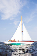 Serenade sailing in the Museum of Yachting Classic Yacht Regatta.