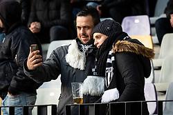 NŠ Mura fans taking a selfie before football match between NŠ Mura and NK Maribor in 20th Round of Prva liga Telekom Slovenije 2018/19, on February 23, 2019 in Ljudski Vrt, Maribor, Slovenia. Photo by Blaž Weindorfer / Sportida