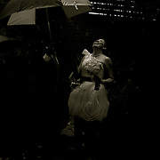 Bride and Groom Photos geting ready before their wedding ceremony in New Orleans