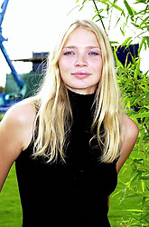 Model JODIE KIDD at a polo match in Berkshire on 30th July 2000.OGN 218