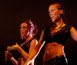 Liberty-X at Sheffield City Hall March 18 2003<br /> The group was formed by the five finalists of the ITV talent show Popstars who failed to make it into the group Hear'Say. Liberty X Jessica Taylor, Kelli Young, Kevin Simm, Michelle Heaton<br /> Tony Lundonwent on to achieve ten consecutive UK Top 20 singles, and various charting singles worldwide, leading to greater commercial success than Hear'Say.<br /> <br /> Copyright Paul David Drabble