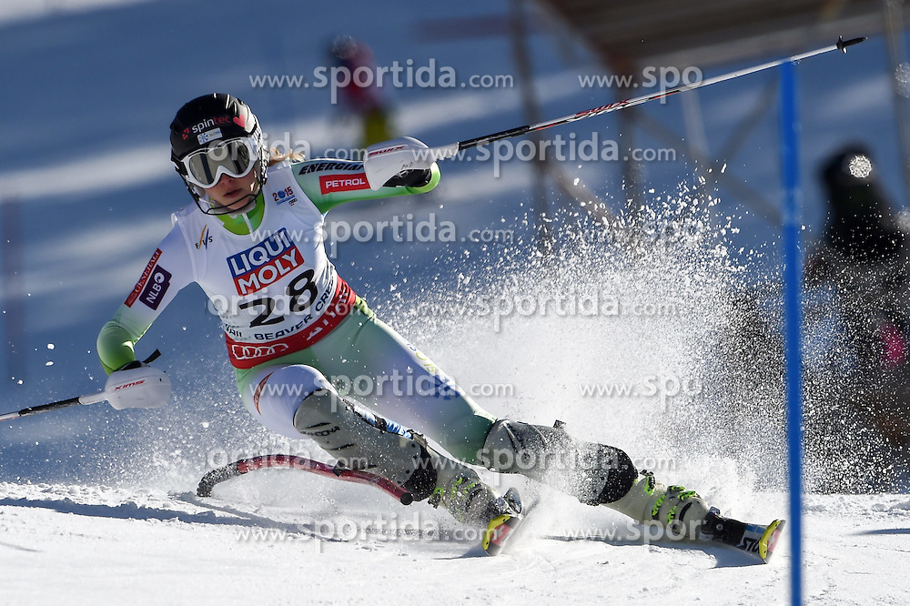 14.02.2015, Birds of Prey, Beaver Creek, USA, FIS Weltmeisterschaften Ski Alpin, Vail Beaver Creek 2015, Damen, Slalom, 2. Durchgang, im Bild Ana Bucik (SLO) // Ana Bucik of Slovenia in action during 2nd run of the ladie's Slalom of FIS Ski World Championships 2015 at the Birds of Prey in Beaver Creek, United States on 2015/02/14. EXPA Pictures © 2015, PhotoCredit: EXPA/ Jonas Ericson