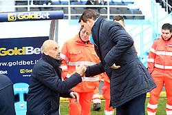 """Foto Filippo Rubin<br /> 10/12/2016 Ferrara (Italia)<br /> Sport Calcio<br /> Spal vs Spezia - Campionato di calcio Serie B ConTe.it 2016/2017 - Stadio """"Paolo Mazza""""<br /> Nella foto: DOMENICO DI CARLO E LEONARDO SEMPLICI<br /> <br /> Photo Filippo Rubin<br /> December 10, 2016 Ferrara (Italy)<br /> Sport Soccer<br /> Spal vs Spezia - Italian Football Championship League B ConTe.it 2016/2017 - """"Paolo Mazza"""" Stadium <br /> In the pic: DOMENICO DI CARLO AND LEONARDO SEMPLICI"""
