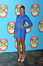 Jamelia arrives at the show.<br /> Celebrities attend the opening night of new West End show 'I Can't Sing' at The London palladium, London, UK. Wednesday, 26th March 2014. Picture by Ben Stevens / i-Images