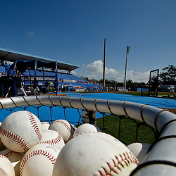 March 8, 2011; Dunedin, FL, USA; A general view during batting practice for the New York Yankees before a spring training game against the Toronto Blue Jays at Florida Auto Exchange Stadium. Mandatory Credit: Derick E. Hingle-US PRESSWIRE