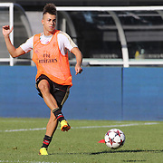 Stephan El Shaarawy  training with AC Milan in preparation for the Guinness International Champions Cup tie with Chelsea at MetLife Stadium, East Rutherford, New Jersey, USA.  3rd August 2013. Photo Tim Clayton