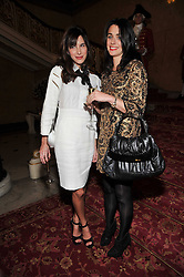 Left to right, CAROLINE SIEBER and EMILY SHEFFIELD at a party to celebrate 300 years of Tatler magazine held at Lancaster House, London on 14th October 2009.