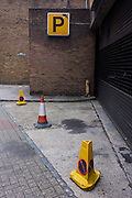 Contradictory closed NCP car park with No Parking cones.