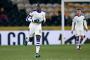 Newcastle United midfielder Mohamed Diame (15)  during the EFL Quarter Final Cup match between Hull City and Newcastle United at the KCOM Stadium, Kingston upon Hull, England on 29 November 2016. Photo by Simon Davies.