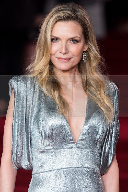 © Licensed to London News Pictures. 02/11/2017. London, UK. MICHELLE PFEIFFER attends the world film premiere of Murder On The Orient Express. Photo credit: Ray Tang/LNP