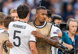 26.06.2016, Stade Pierre Mauroy, Lille, FRA, UEFA Euro 2016, Deutschland vs Slowakei, Achtelfinale, im Bild Mats Hummels (GER), Jerome Boateng (GER) // Mats Hummels (GER) Jerome Boateng (GER) during round of 16 match between Germany and Slovakia of the UEFA EURO 2016 France at the Stade Pierre Mauroy in Lille, France on 2016/06/26. EXPA Pictures © 2016, PhotoCredit: EXPA/ JFK