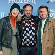 NLD/Amsterdam/20191116 - Filmpremiere Frozen II, Noortje Herlaar en Carlo Boszhard